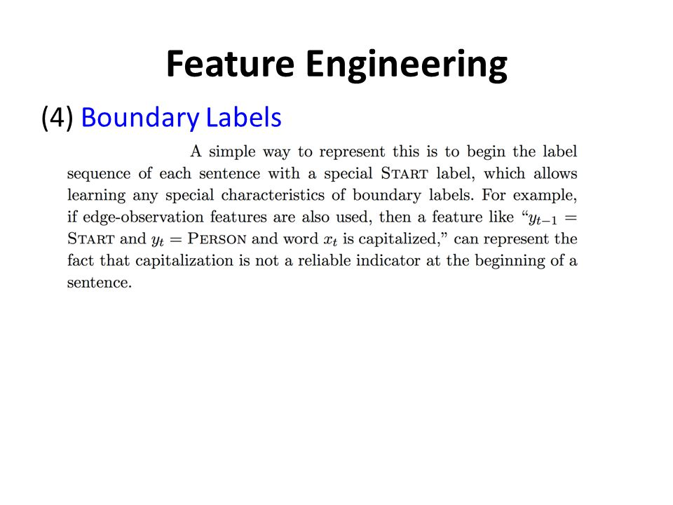 Feature Engineering (4) Boundary Labels