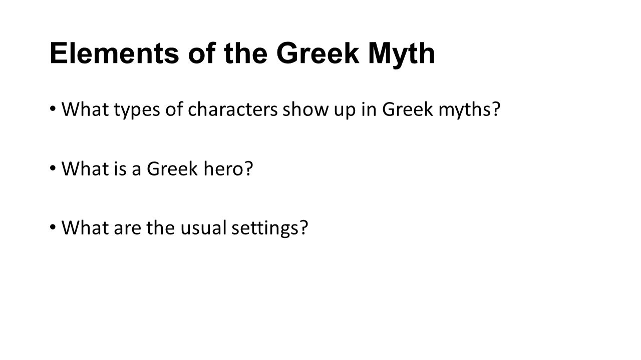 How To Read a Greek Myth 1.Where can you find the God's names and descriptions.