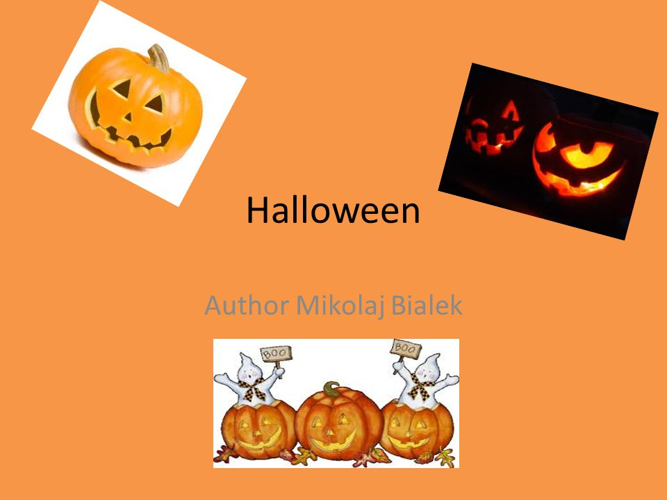 Halloween Author Mikolaj Bialek