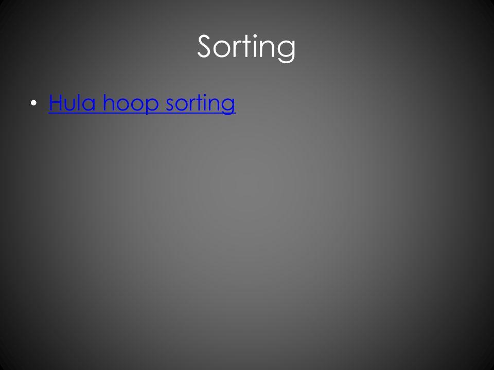 Sorting Hula hoop sorting