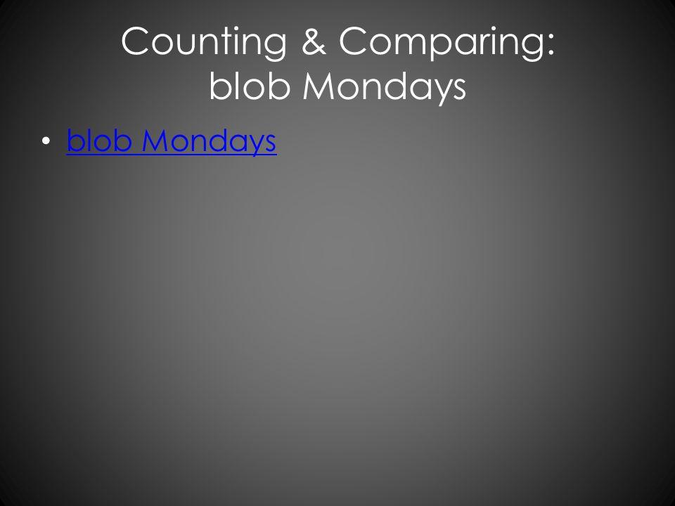 Counting & Comparing: blob Mondays blob Mondays