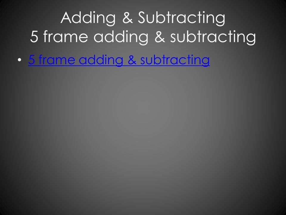 Adding & Subtracting 5 frame adding & subtracting 5 frame adding & subtracting