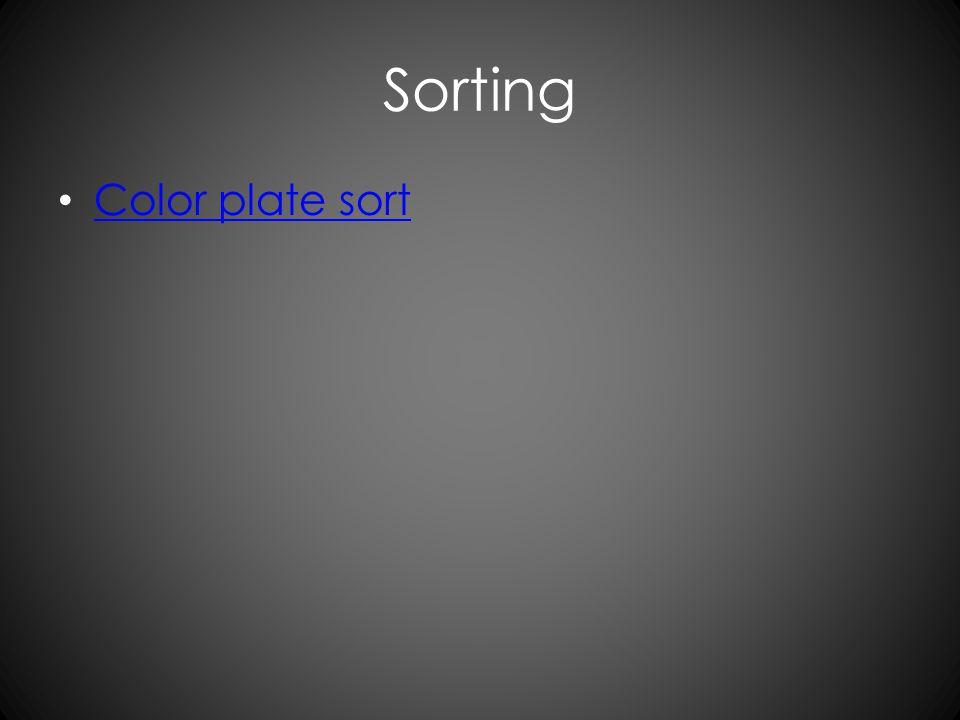 Sorting Color plate sort