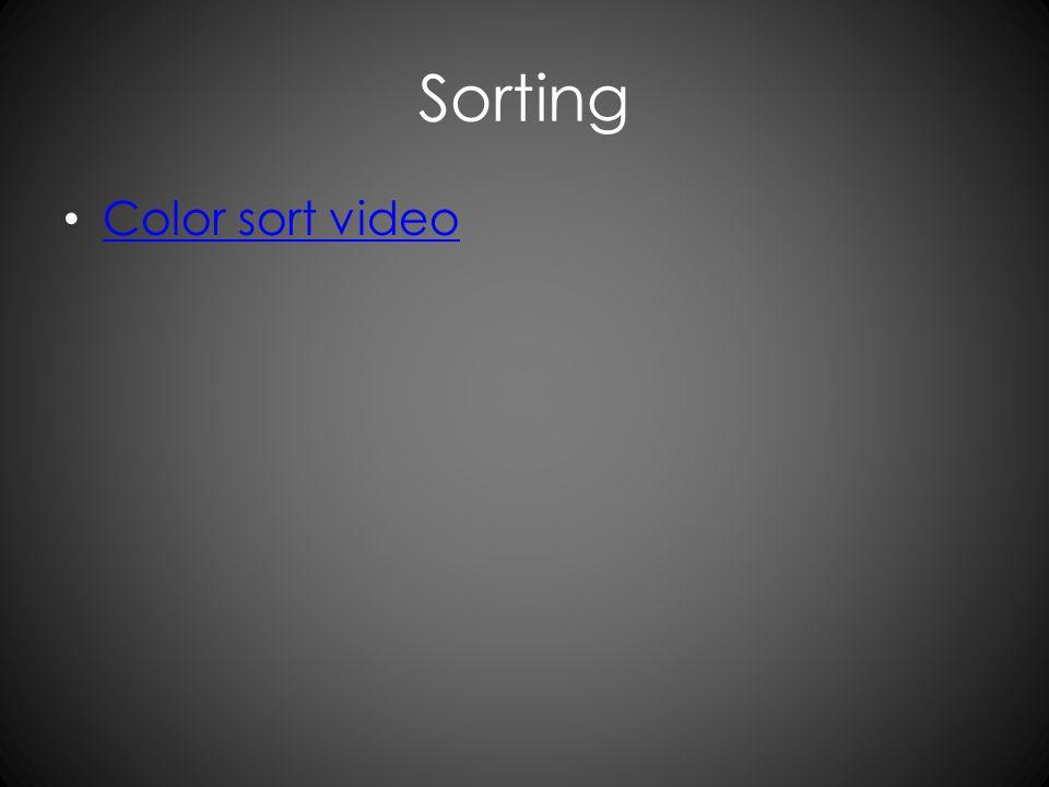 Sorting Color sort video