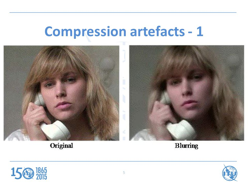 Compression artefacts - 1 5