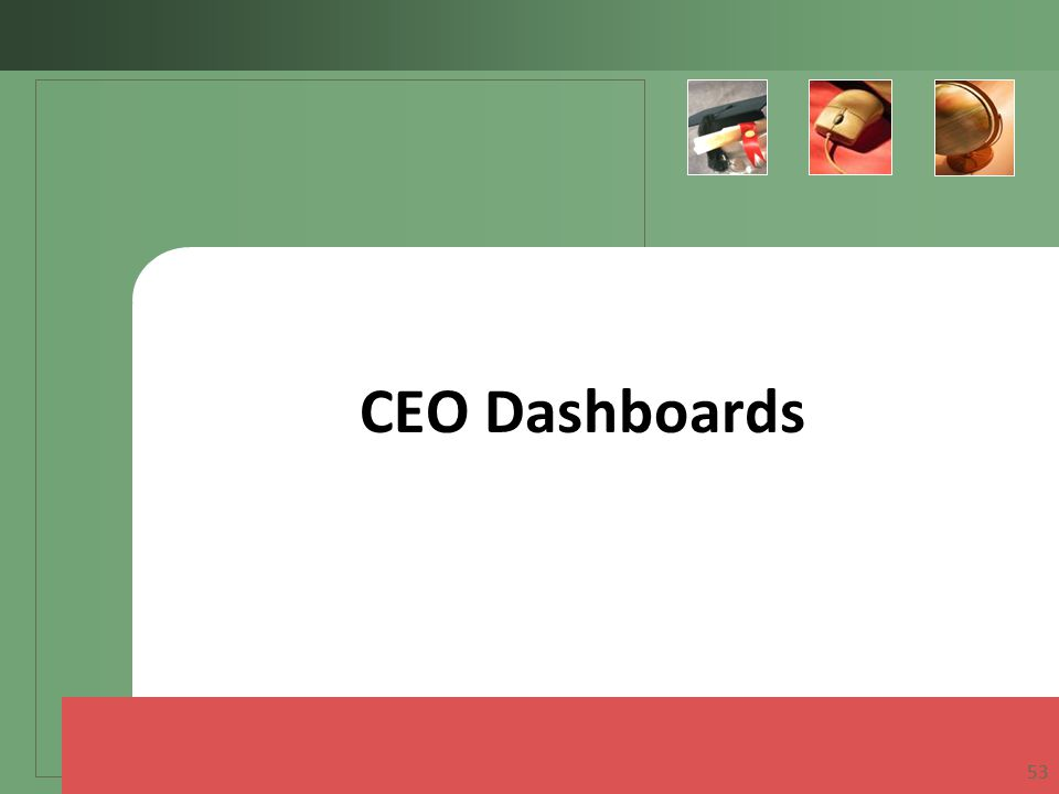 CEO Dashboards 53