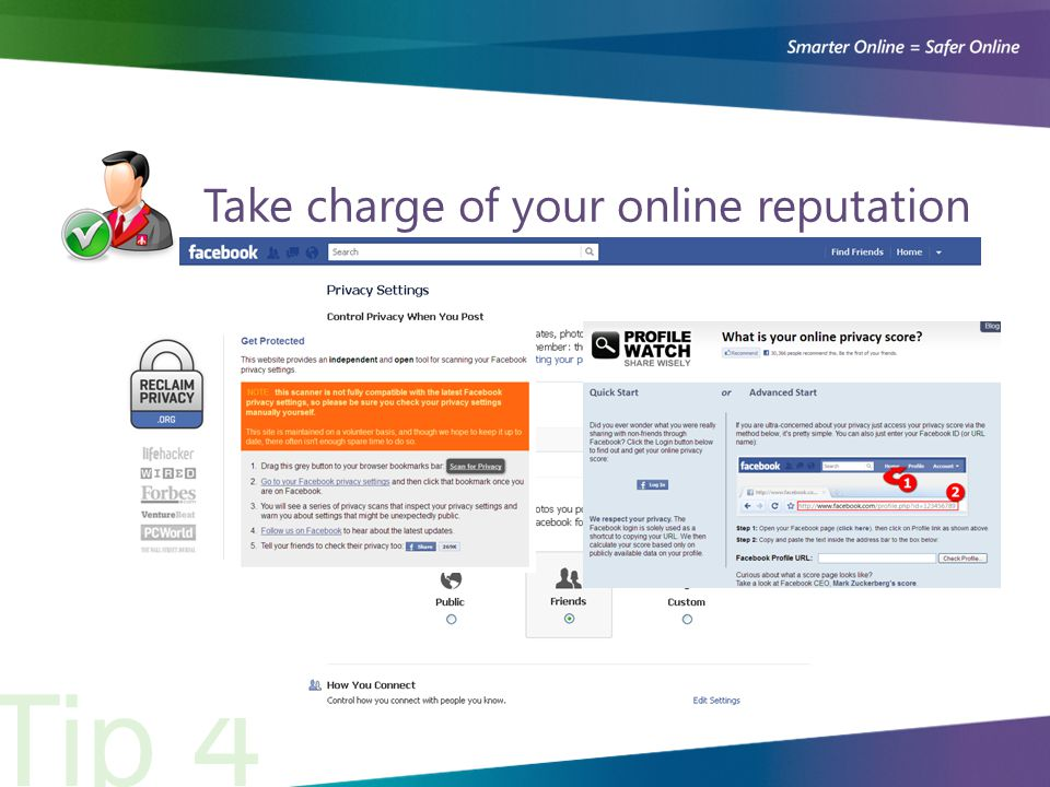 Take charge of your online reputation Tip 4