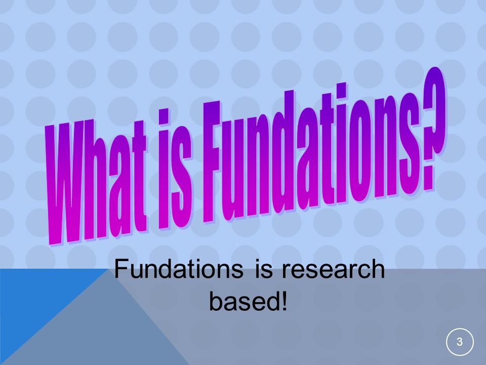 Fundations is systematic:  It follows a very definite sequence.