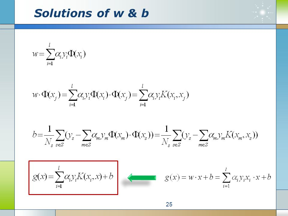 Solutions of w & b 25
