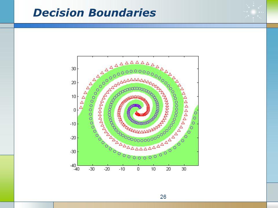 Decision Boundaries 26