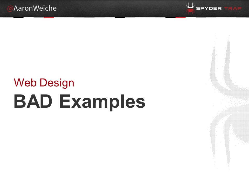 BAD Examples Web Design