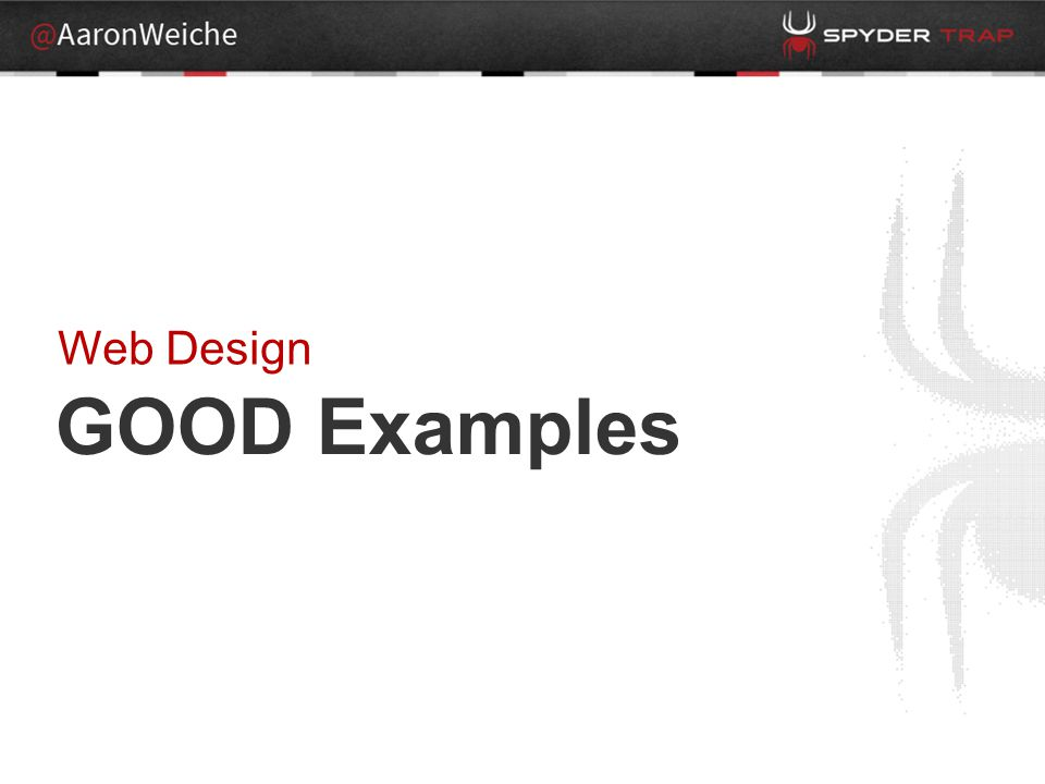 GOOD Examples Web Design