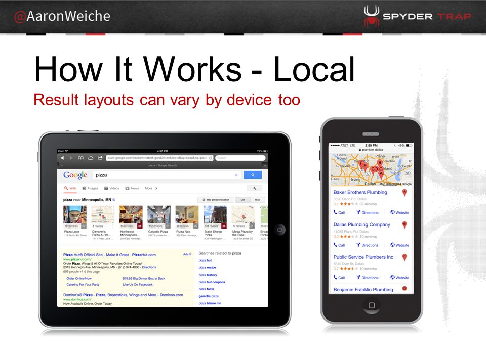 How It Works - Local Result layouts can vary by device too
