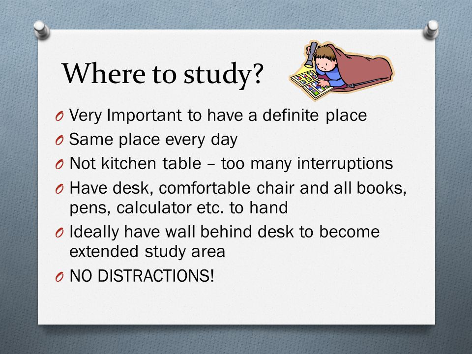 Why study.O Every student finds a different reason to study or not to study.