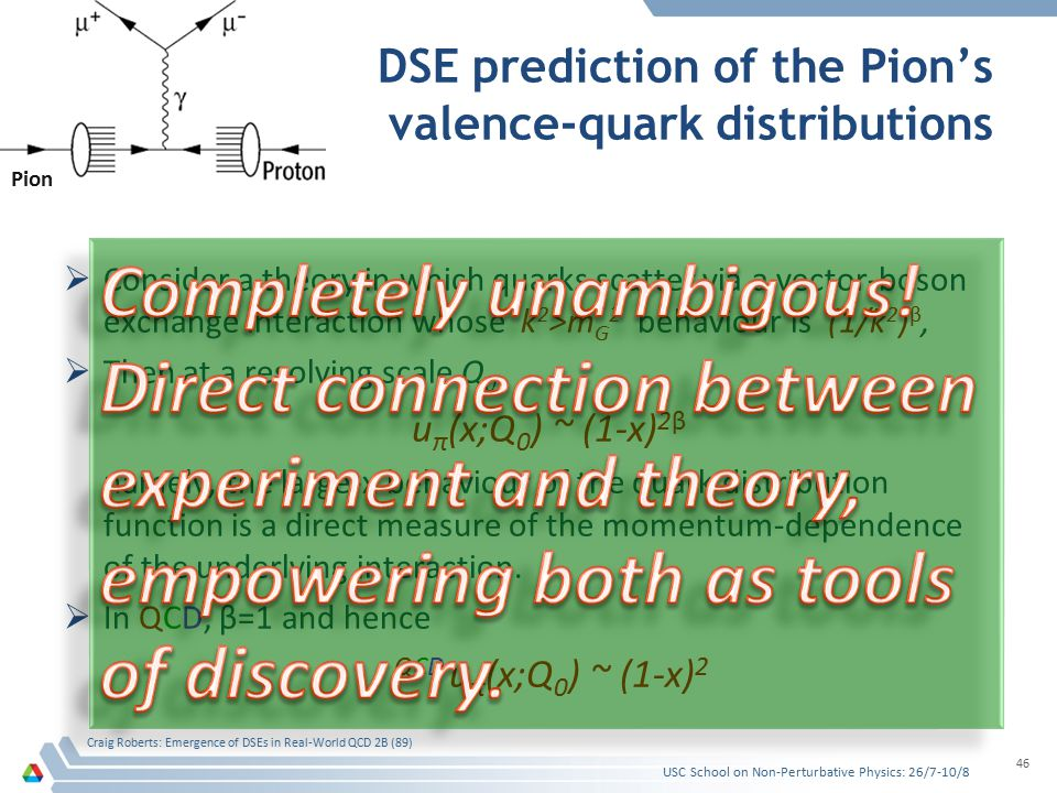  Consider a theory in which quarks scatter via a vector-boson exchange interaction whose k 2 >m G 2 behaviour is (1/k 2 ) β,  Then at a resolving sc