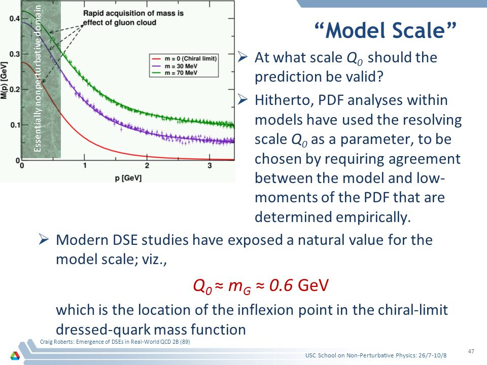 """Model Scale""  At what scale Q 0 should the prediction be valid?  Hitherto, PDF analyses within models have used the resolving scale Q 0 as a parame"