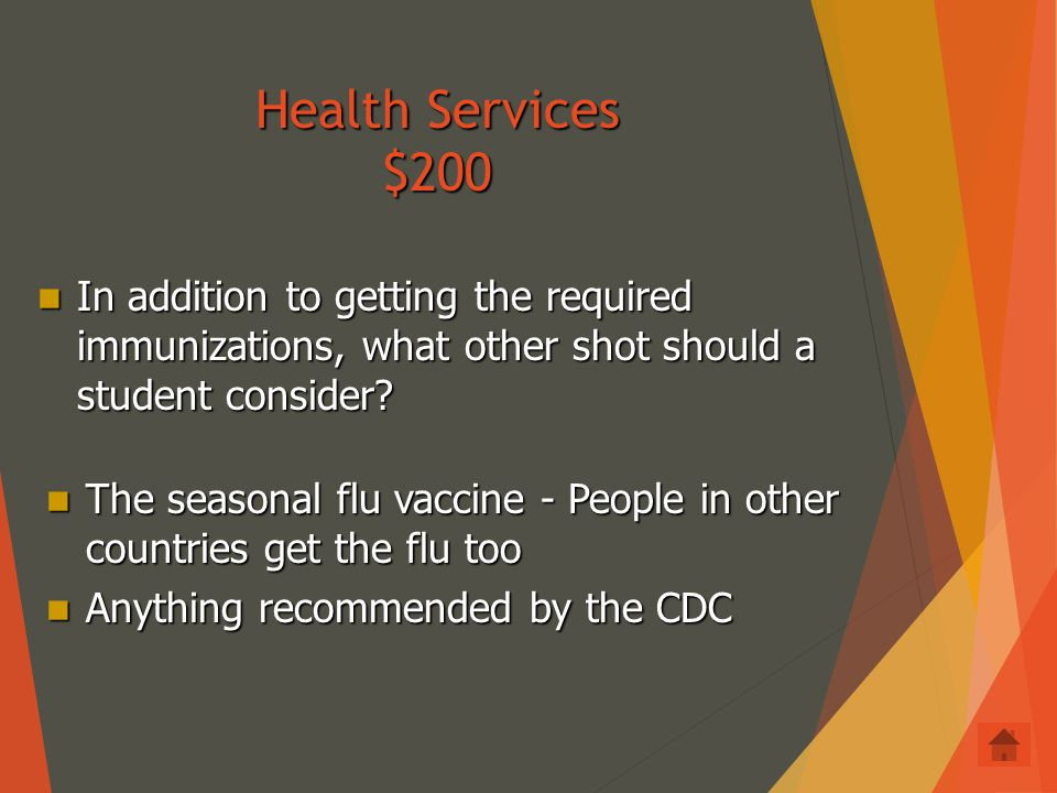Health Services $100 What do students need to do to get international health insurance for their time abroad.