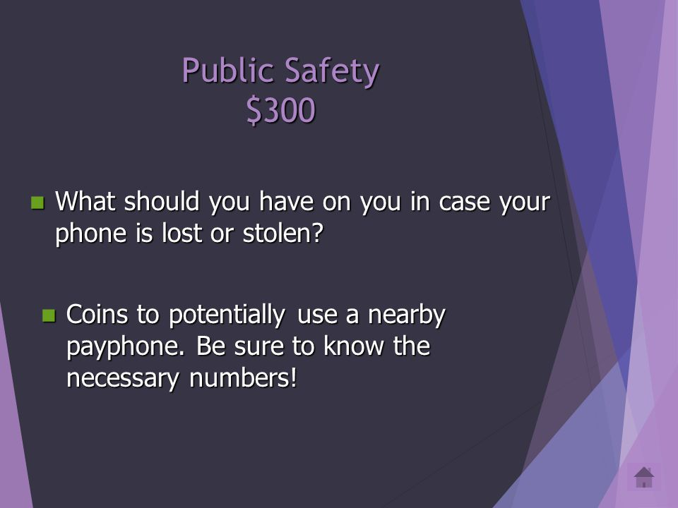 Public Safety $200 If you get arrested (due some unfortunate misunderstanding because you were really being heroic and performing a good deed), what do you ask for.