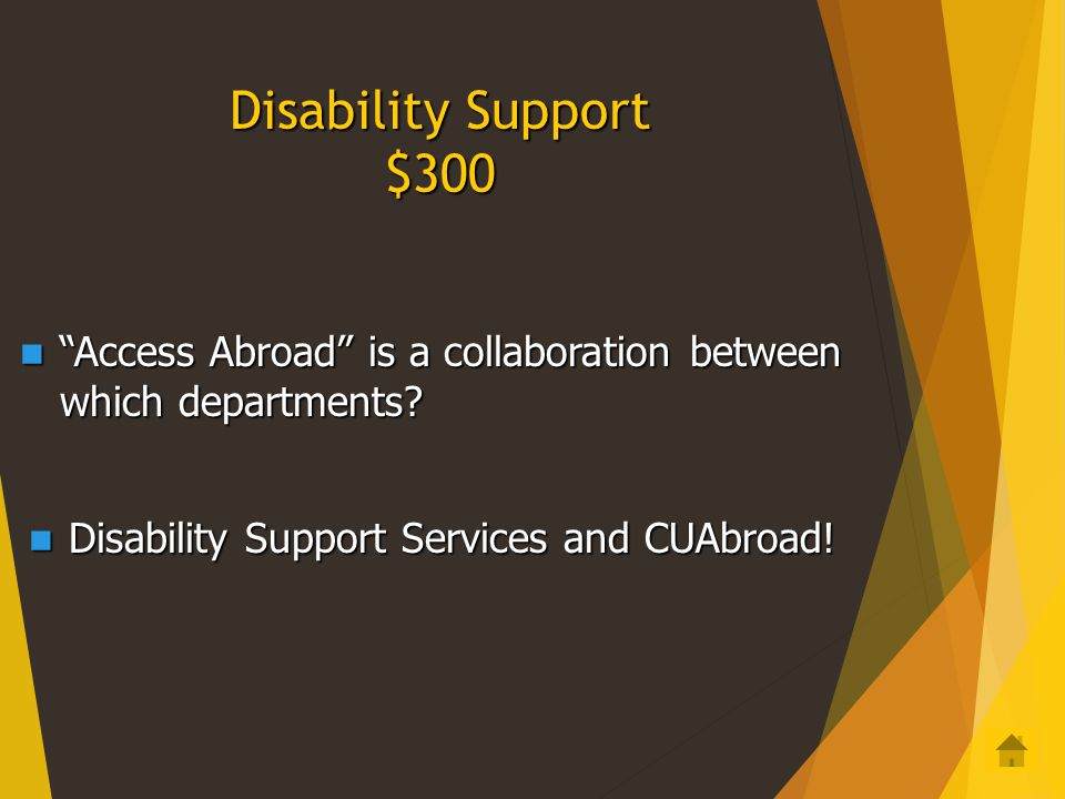 Disability Support $200 If you feel you need accommodations for a disability, what should your first step be.