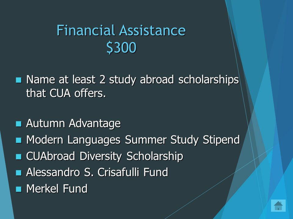 Financial Assistance $200 Trick Question! Students do not have to do anything. This will be done automatically. Trick Question! Students do not have t
