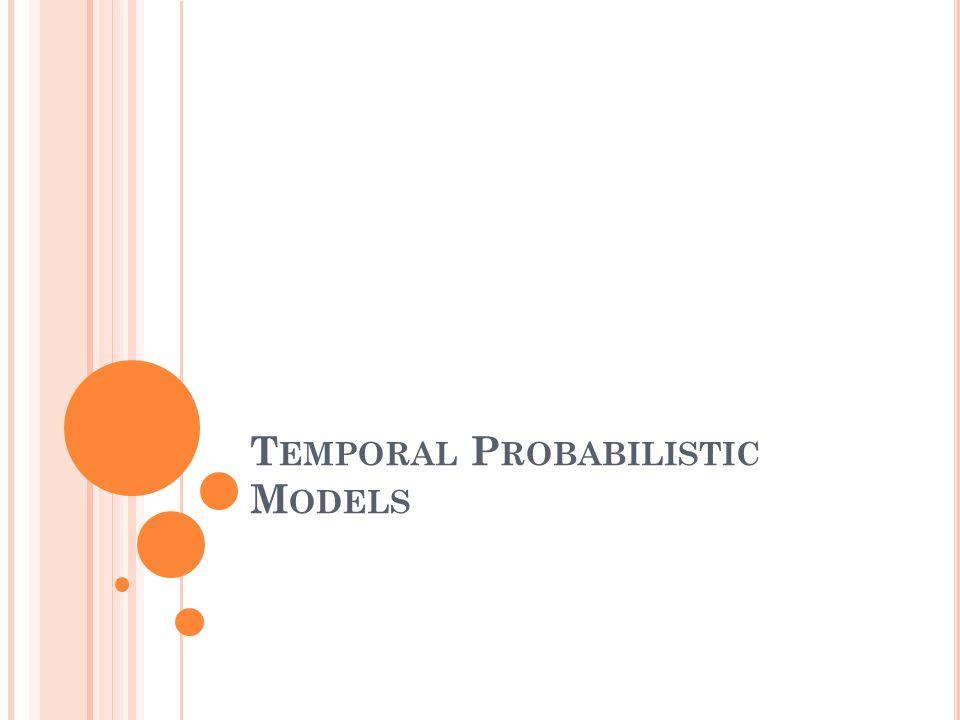 T EMPORAL P ROBABILISTIC M ODELS
