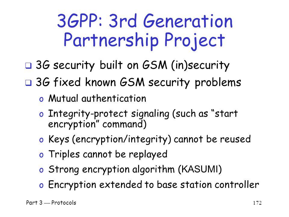 Part 3  Protocols 171 GSM Conclusion  Did GSM achieve its goals.