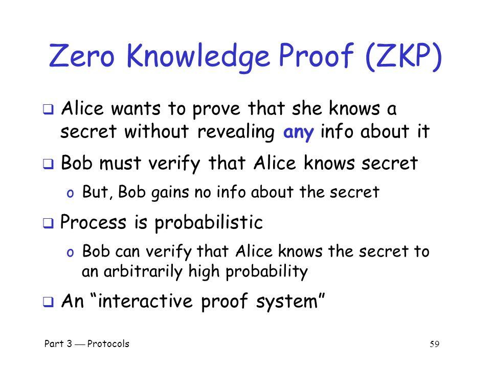 Part 3  Protocols 58 Zero Knowledge Proofs