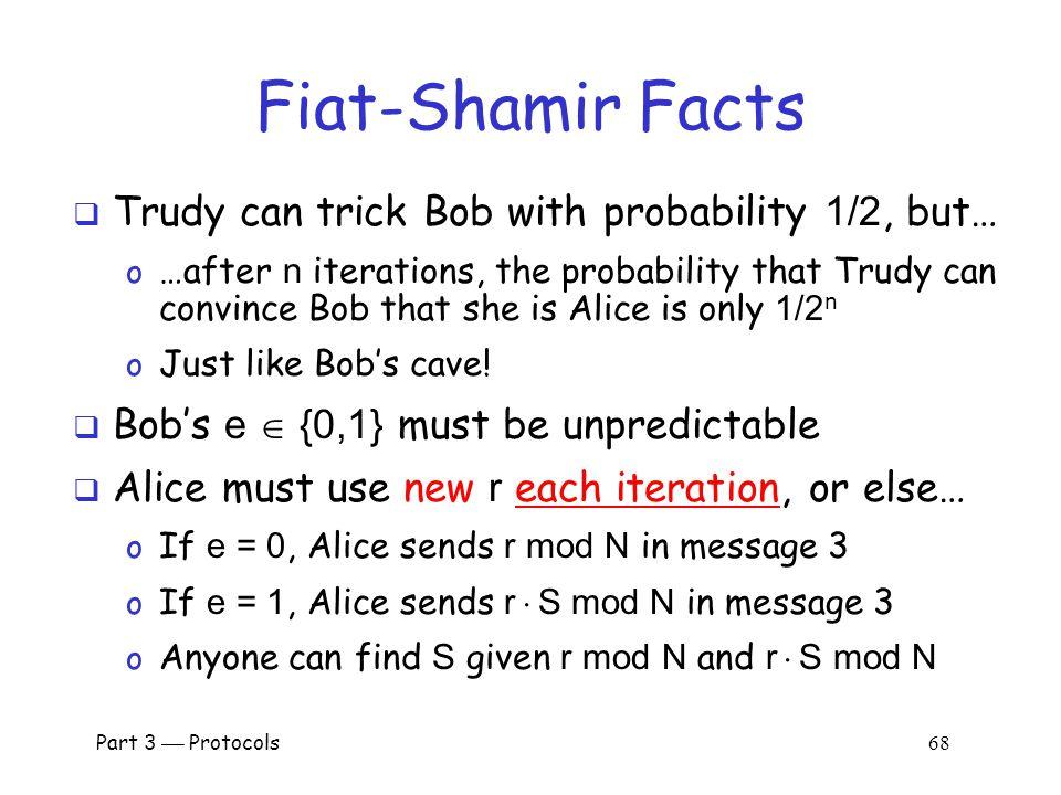 Part 3  Protocols 67 Does Fiat-Shamir Work.