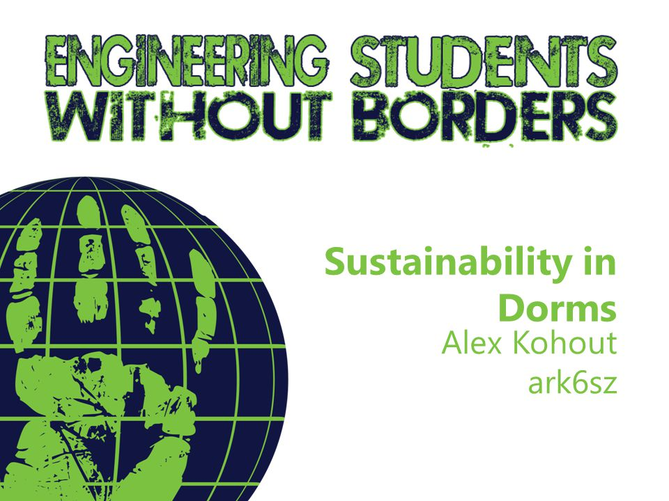 Sustainability in Dorms Alex Kohout ark6sz
