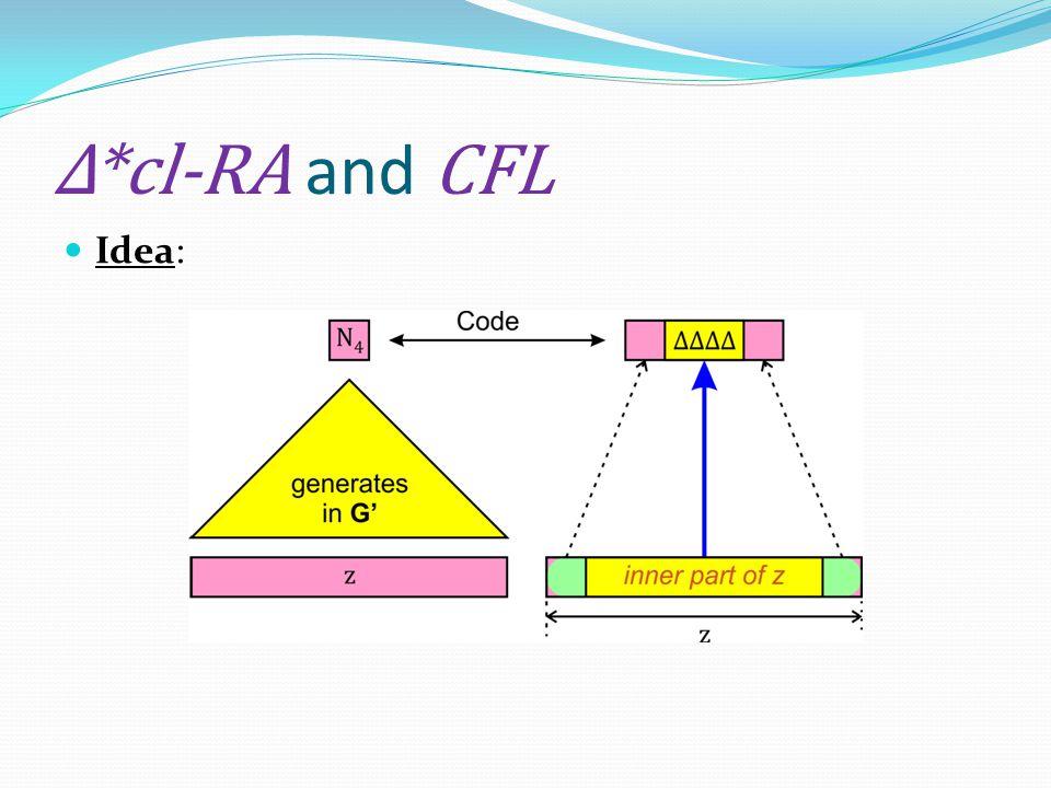 Δ*cl-RA and CFL Idea: