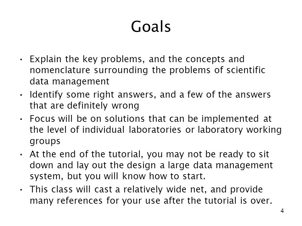 75 Keys to using Statistical Software as a data management tool Be sure to make your programs and files self-defining.
