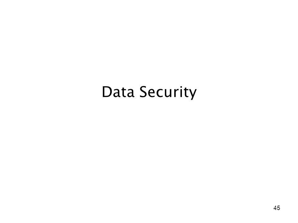 45 Data Security