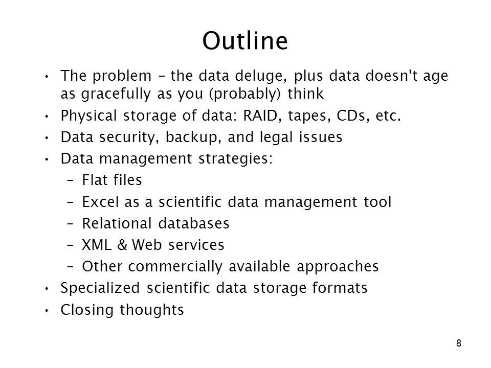 9 The problem of scientific data management