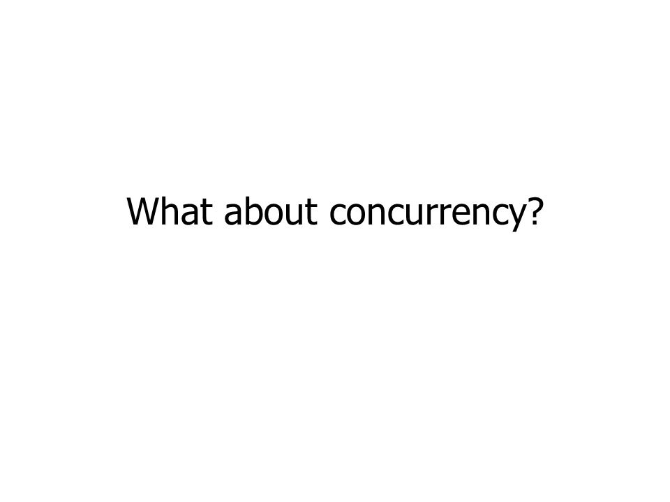 What about concurrency?