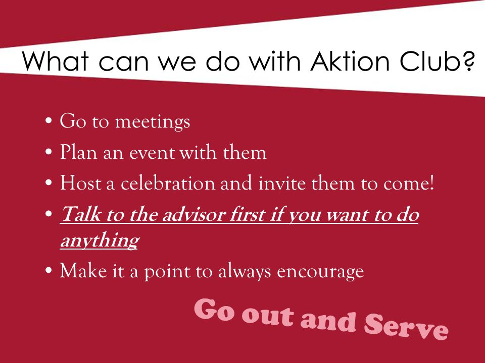 What can we do with Aktion Club.