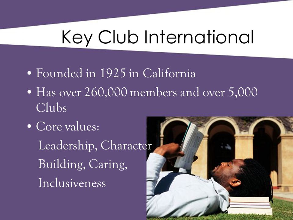 What can we do with Key Club.Contact the club advisor and school first.