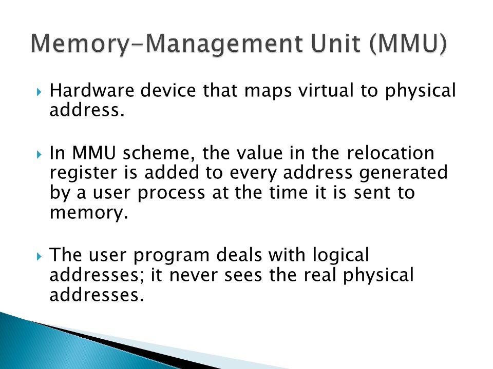  Virtual memory can be implemented via: ◦ Demand paging ◦ Demand segmentation