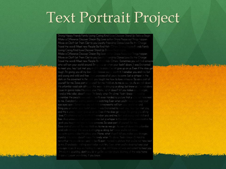 Text Portrait Project
