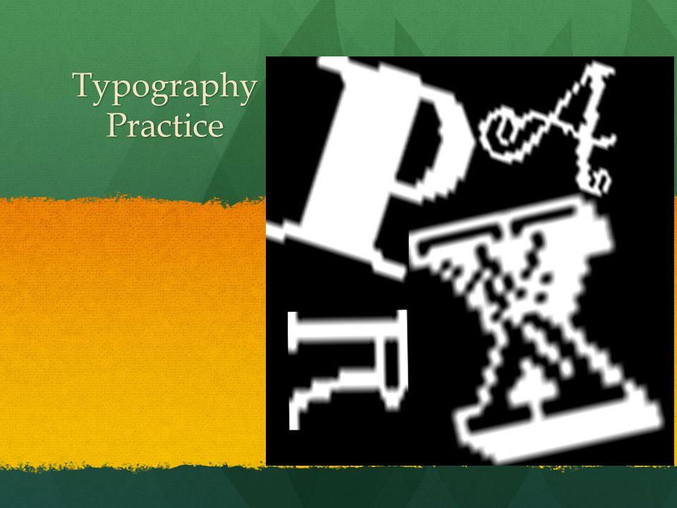 Typography Practice