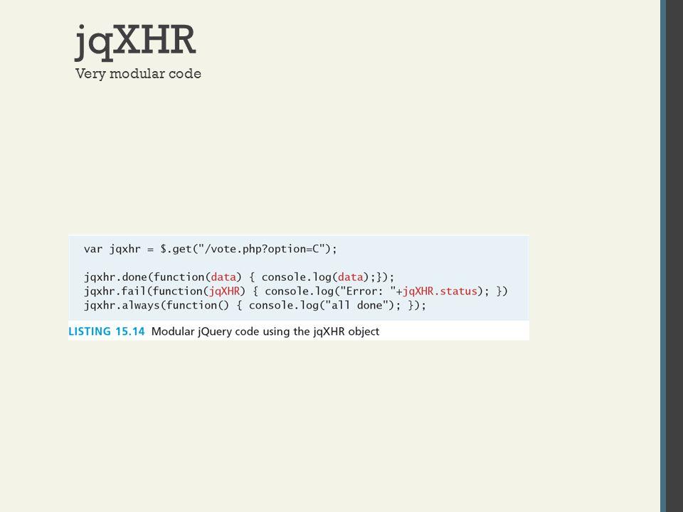 jqXHR Very modular code