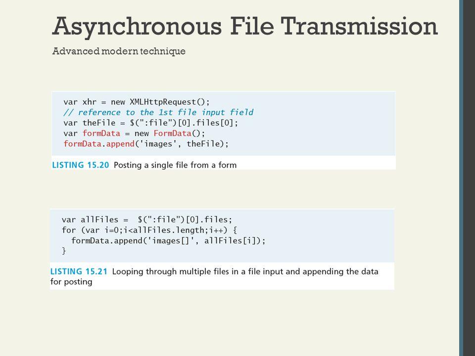 Asynchronous File Transmission Advanced modern technique