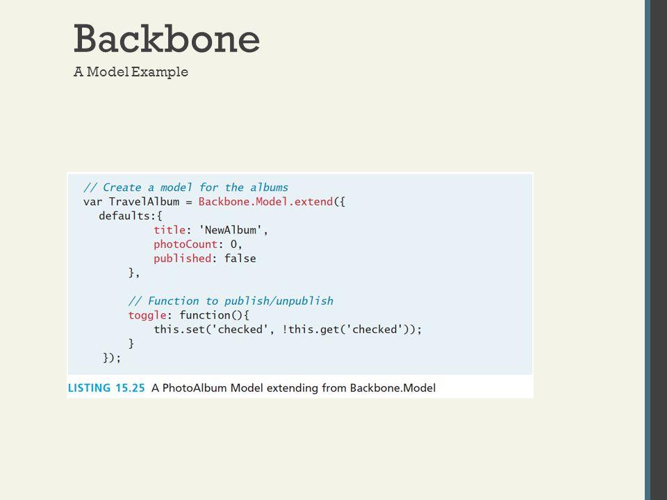 Backbone A Model Example