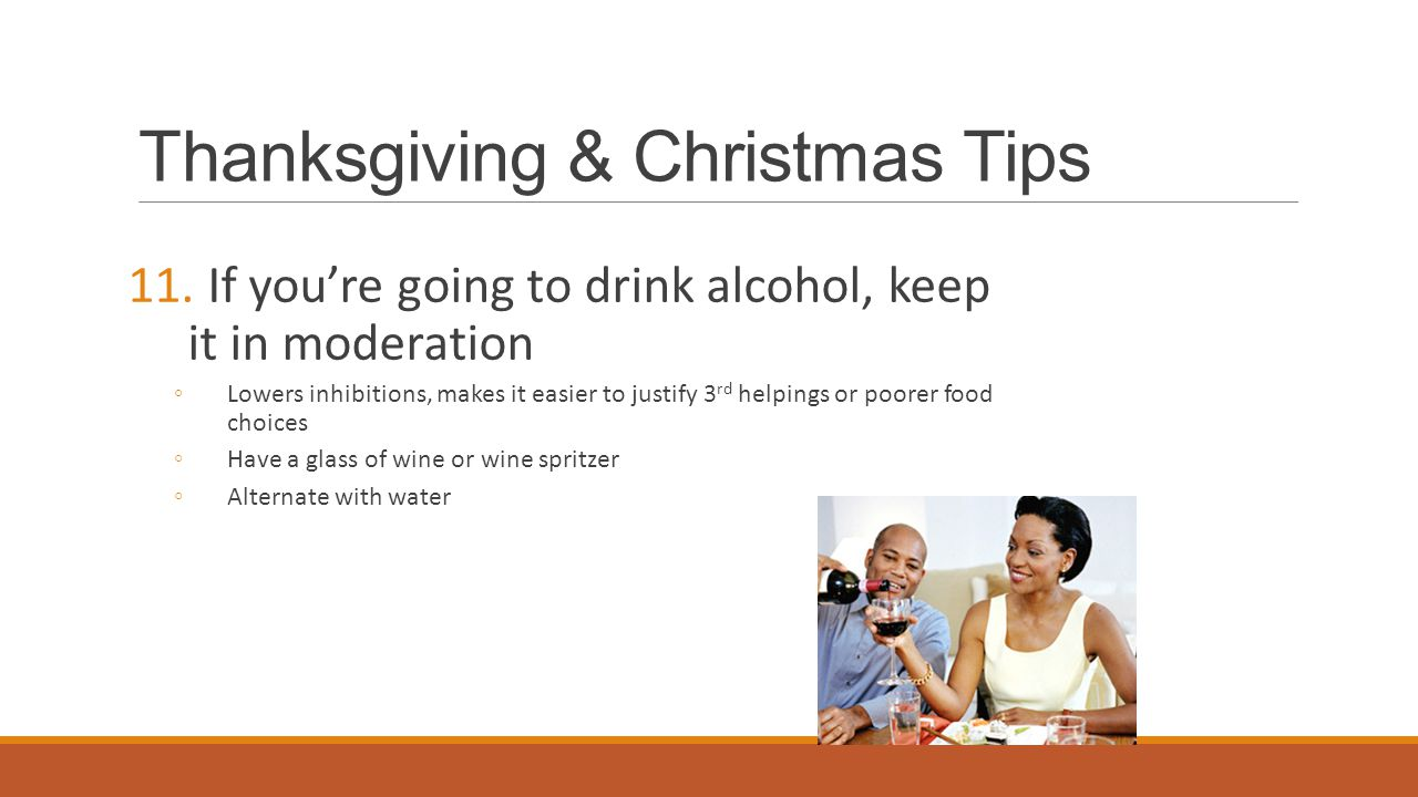 Thanksgiving & Christmas Tips 11.