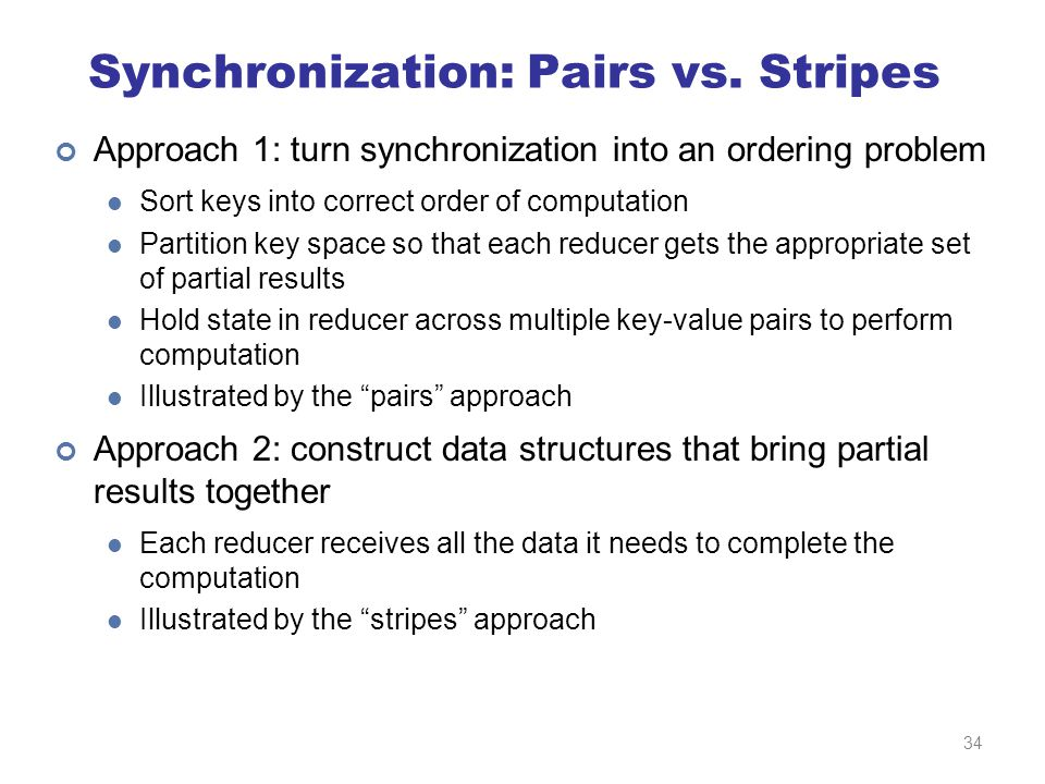 Synchronization: Pairs vs.