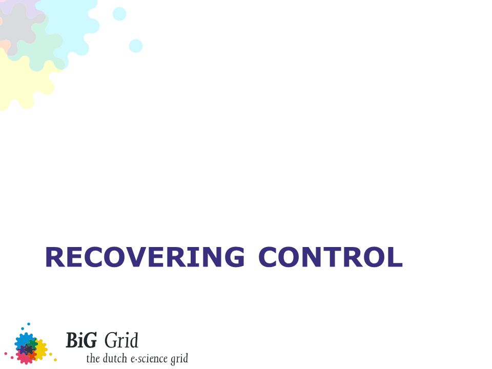 Recovering control: policy Policy on MUPJ –https://edms.cern.ch/document/855383https://edms.cern.ch/document/855383 –Implemented to varying degrees –Actual policy requires use of fine-grained control tools Document-based reviews of LHC VO frameworks –A wLCG working group reviewed the LHC VO frameworks based on documents (or slideware where no document was available) –No actual code review was done –Some frameworks are likely good (security was taken as part of design considerations), others unknown (but trivial exploits closed down after public demonstrations)