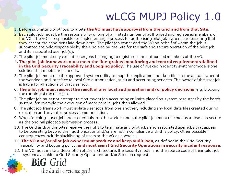 wLCG MUPJ Policy 1.0 1.