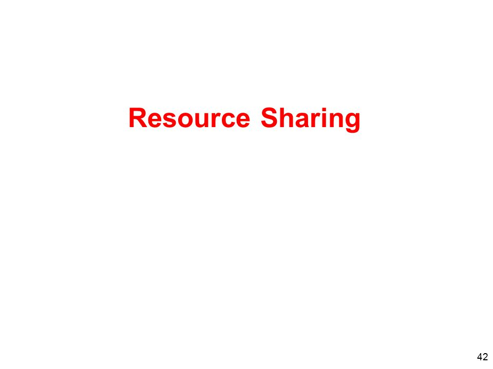Resource Sharing 42
