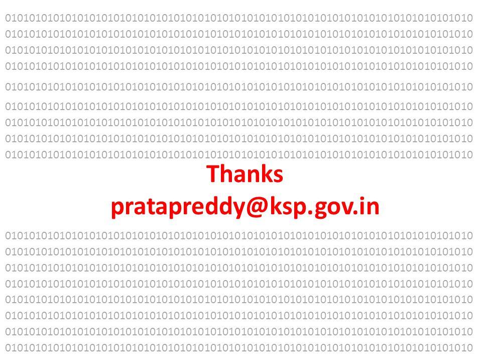 Thanks pratapreddy@ksp.gov.in 01010101010101010101010101010101010101010101010101010101010101010101010101010