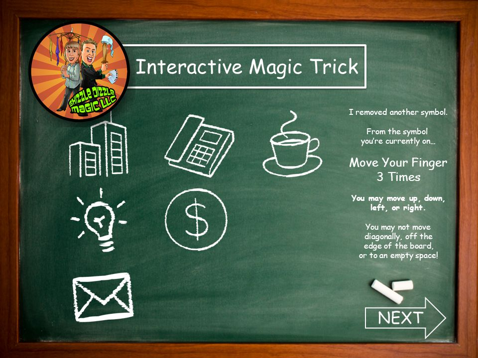 Interactive Magic Trick I removed two more symbols.