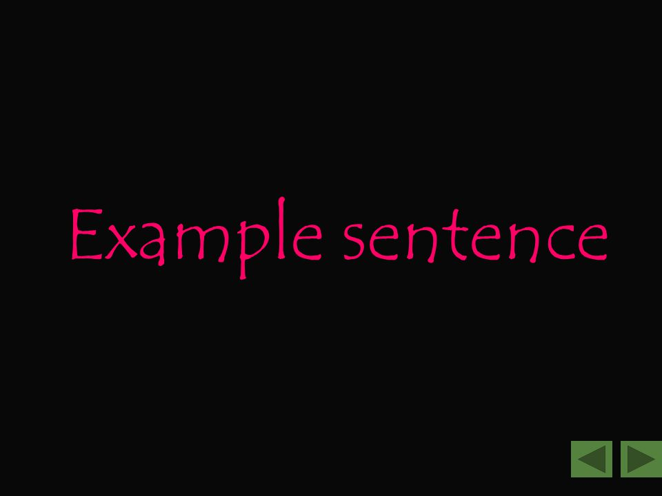 Example sentence